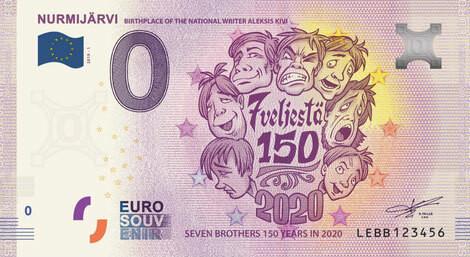 Suomi 0 € 2020 Seitsemän veljestä 150 vuotta - Nurmijärvi