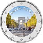Champs-Élysées 2 € 2020 -juhlaraha, väritetty (#1)