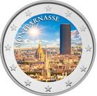 Montparnasse 2 € 2020 -juhlaraha, väritetty (#1)