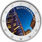 Montparnasse 2 € 2020 -juhlaraha, väritetty (#2)