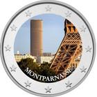 Montparnasse 2 € 2020 -juhlaraha, väritetty (#3)