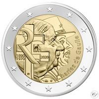 Ranska 2 € 2020 Charles de Gaulle 50 v.