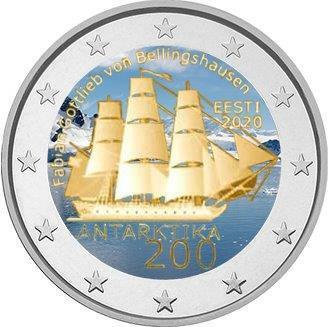 Viro 2 € 2020 Antarktika 200 vuotta, väritetty (#2)