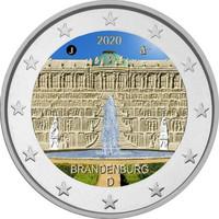 Saksa 2 € 2020 Brandenburg & Sanssouci, väritetty (#1)
