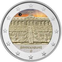 Saksa 2 € 2020 Brandenburg & Sanssouci A-J, väritetty (#2)