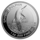 Australia 1 $ 2020 Delfiini 1oz hopearaha