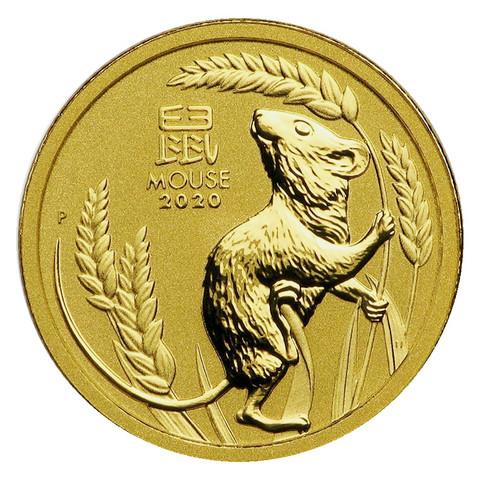 Australia Lunar 1/10 oz kultakolikko 2020