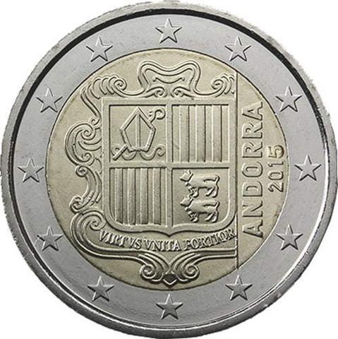 Andorra 2 € 2019 Vaakuna UNC