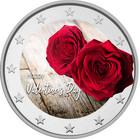 Ystävänpäivä 2 € 2020 -juhlaraha, väritetty (#3)