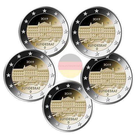 Saksa 2 € 2019 Bundesrat 70 vuotta A-J