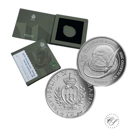 San Marino 10 € 2020 Alpini - Italian vuoristojoukot BU