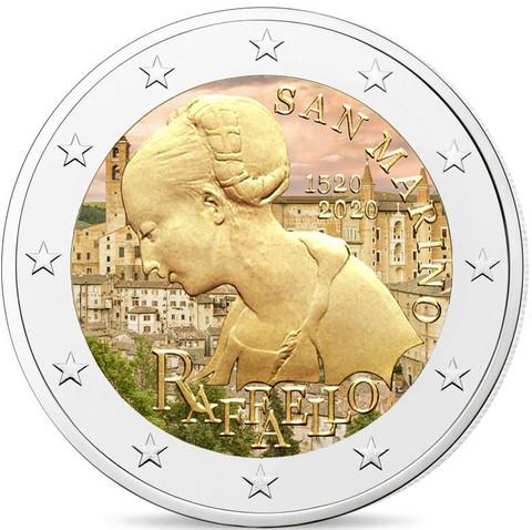 San Marino 2 € 2020 Raffaello, väritetty (#3)