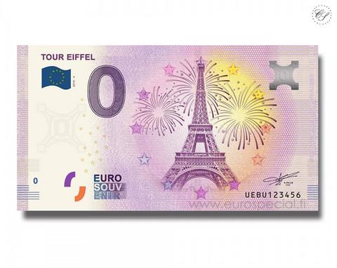 Ranska 0 € 2020 Pariisi Tour Eiffel VI UNC