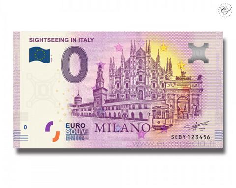 Italia 0 € 2020 Milanon nähtävyydet UNC
