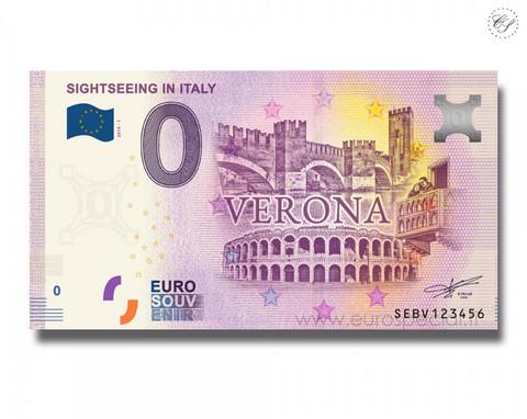 Italia 0 € 2019 Veronan nähtävyydet UNC