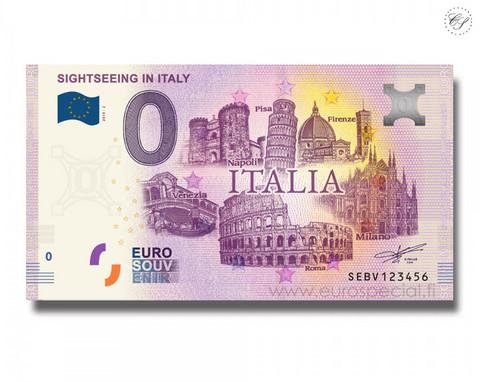 Italia 0 € 2019 Italian nähtävyydet UNC