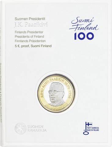 Suomi 5 € 2017 Suomen Presidentit - J.K. Paasikivi, Proof