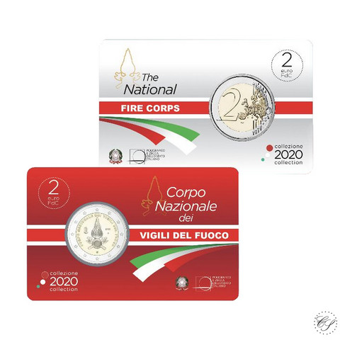 Italia 2 € 2020 Kansalliset palovoimat BU coincard