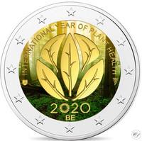 Belgia 2 € 2020 Kasvinterveysvuosi, väritetty (#1)