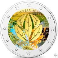 Belgia 2 € 2020 Kasvinterveysvuosi, väritetty (#2)