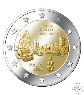 Malta 2 € 2020 Ta' Skorban temppelit