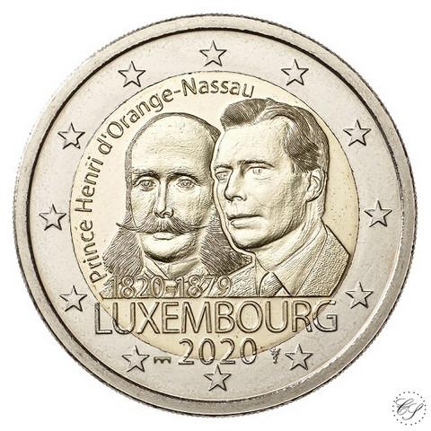 Luxemburg 2 € 2020 Prinssi Henry 200 v. BU Silta-mintmark