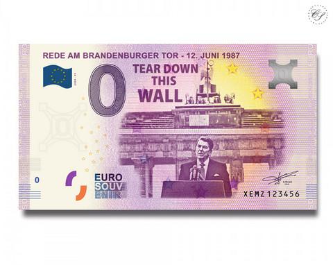 Saksa 0 € 2020 Ronald Reagan & Berliinin muuri UNC