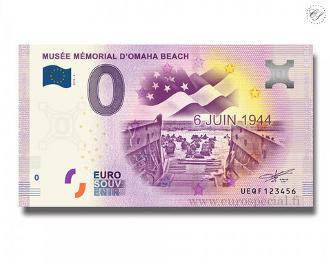Ranska 0 € 2020 Mémorial Omaha Beach UNC