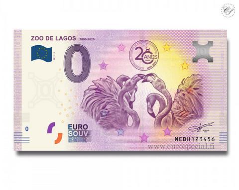 Portugali 0 € 2020 Lagosin eläintarha UNC