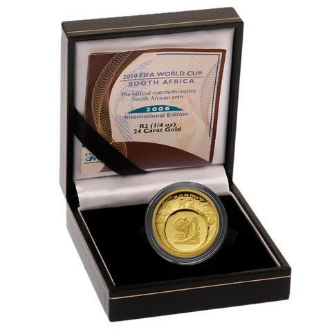 Etelä-Afrikka 2006 FIFA Jalkapallo ¼ oz kultakolikko