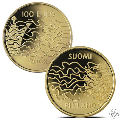 Suomi 100 € 2008 Suomen Sota 200 vuotta kultaraha
