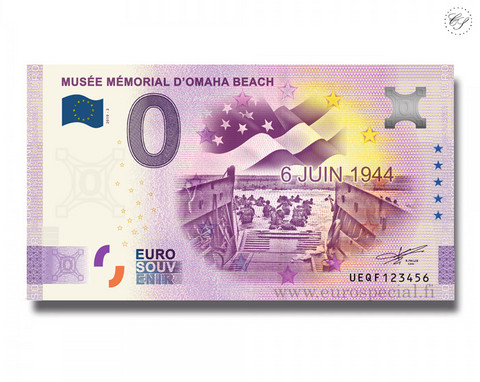 Ranska 0 € 2020 Mémorial Omaha Beach -juhlavuosiversio UNC