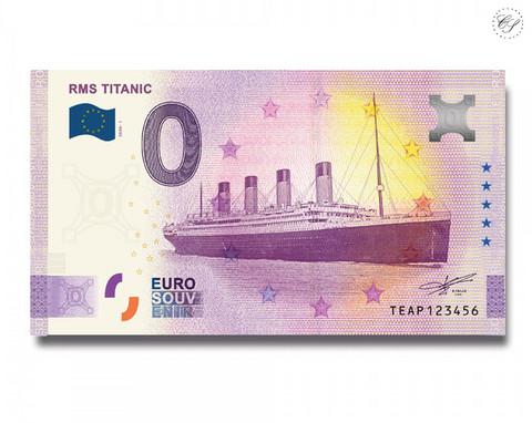 Irlanti 0 € 2020 RMS Titanic-nollaseteli -juhlavuosiversio UNC