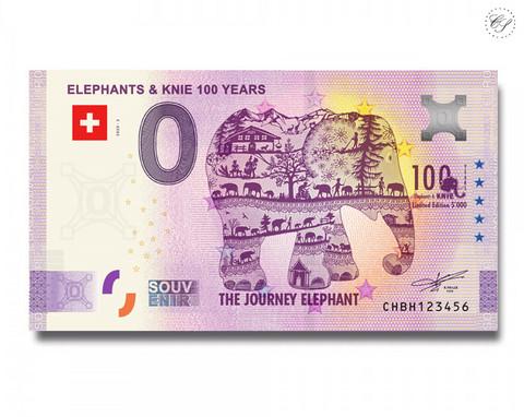 Sveitsi 0 € 2020 Elefanttiseteli -juhlavuosiversio UNC