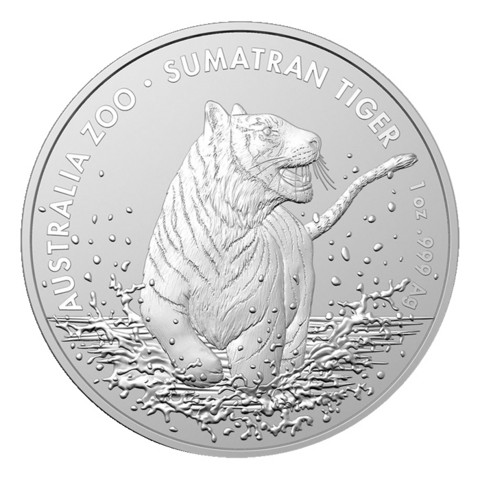 Australia 1 $ 2020 Sumatrantiikeri 1oz hopearaha