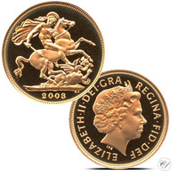 Iso-Britannia 2003 Sovereign ¼ oz KULTA