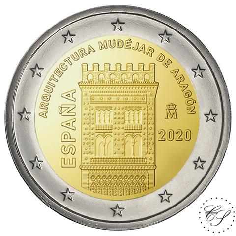 Espanja 2 € 2020 Aragon maailmanperintökohde