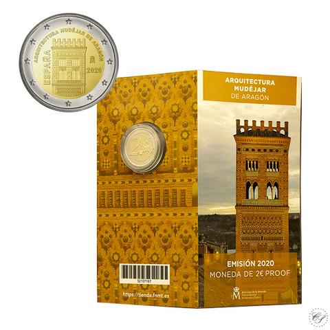 Espanja 2 € 2020 Aragon maailmanperintökohde, Proof
