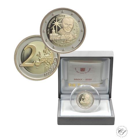 Vatikaani 2 € 2020 Paavi Johannes Paavali II, Proof
