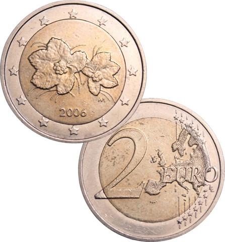 Suomi 2 € 2006/2007 Väärä kartta UNC