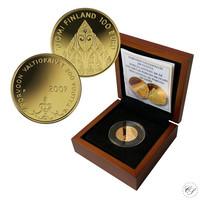 Suomi 100 € 2009 Porvoon valtiopäivät 200 vuotta kultaraha