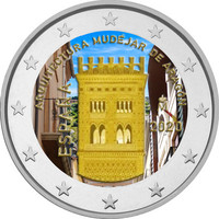 Espanja 2 € 2020 Aragon - Mudejar, väritetty (#1)
