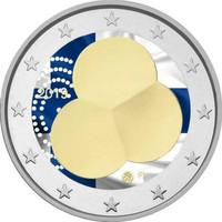 Suomi 2 € 2019 Suomen Hallitusmuoto 1919, väritetty