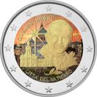 Vatikaani 2 € 2020 Paavi Johannes Paavali II, väritetty (#1)