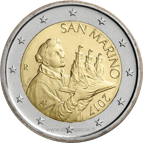 San Marino 2 € 2020 The Portrait of San Marino UNC