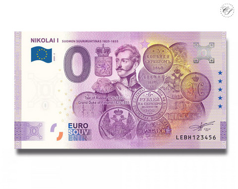 Suomi 0 € 2020 Suuriruhtinaat - Nikolai I UNC Special Edition UNC