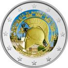 Kreikka 2 € 2020 Thermopylen taistelu, väritetty (#1)