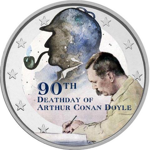 Sherlock Holmes 2 € -juhlaraha, väritetty