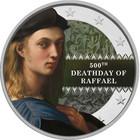 Raffaello 500 vuotta 2 € -juhlaraha, väritetty