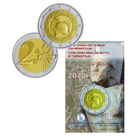 Kreikka 2 € 2020 Thermopylen taistelu 2500 v., BU coincard